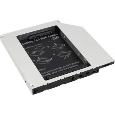Жесткий диск Caddy OptiBay переходник 9.5mm для (подключения 2.5' HDD/SSD в отсек привода ноутбука) 2.5' SATA