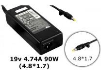 Блок питания для ноутбука HP (4.8*1.7) 4.74A 90W 19V 90W 19V 4.74A 4.8*1.7