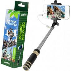 Селфи палка Perfeo  M3 Selfie Stick с аудиокабелем (Perfeo M3 Selfie Stick) до 350 г 14-60 см 3.5 мм