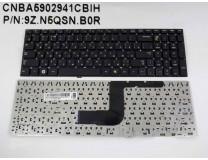 Клавиатура для ноутбука  Samsung RC508, RC510, RC520, RV509 (9Z.N5QSN.B0R) Русская Черный Без подсве