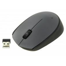Мышь Logitech 910-004642 (M170 Grey-Black) Logitech Оптическая Беспроводная черный + серый  2+1 USB