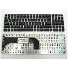 Клавиатура для ноутбука  HP M6-1000 (M6-1000 RU Black Silver Frame) Серебро Без подсветки С фреймом