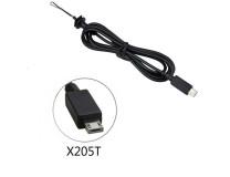 DC кабель питания для ноутбука ASUS 6.0x2.0мм Square Plug, прямой штекер (X205TA, X205T, E202SA, TP200S, C201PA ) 6.0x2.0мм