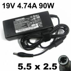 Блок питания для ноутбука Toshiba (5.5х2.5) 4.74A 90W 19V (PA1900-24) 90W 19V 4.74A 5.5*2.5мм