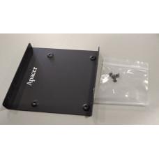 Крепление для установки 2.5' SSD/HDD (в 3.5' отсек (2планки+винтики))