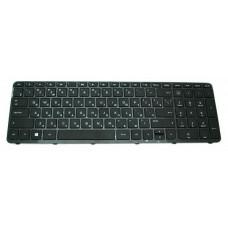 Клавиатура для ноутбука  HP 701684 (15-B, 15T-B, 15Z-B series) Русская Черный Без подсветки С фреймо