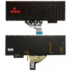 Клавиатура для ноутбука  HP Omen 15-CE 15-CE010CA 15-CE020CA (15-CE030CA 15-CE051NR для 15,6) Английская Черный Подсветка Без фрейма